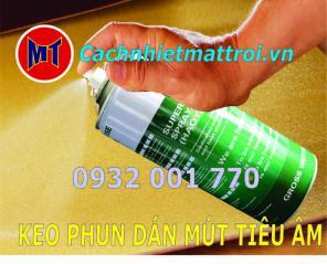 Keo phun dán mút đa năng - Dán mút tiêu âm cách âm cách nhiệt - Bình xịt cầm tay