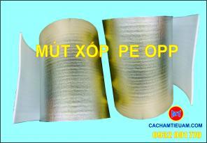 Mút xốp PE OPP cách nhiêt cách âm dày 10mm - Foam bạc - Mút bạc